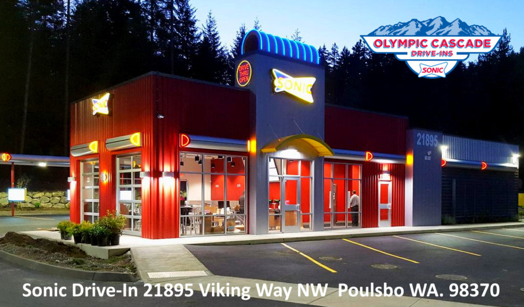 Sonic Drive In Store Restaurant Poulsbo Washington Bainbridge Island Bremerton Silverdale Keyport Kingston Kitsap County Washington