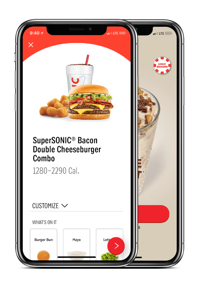 Sonic drive in restaurant online app ordering Washington and Oregon