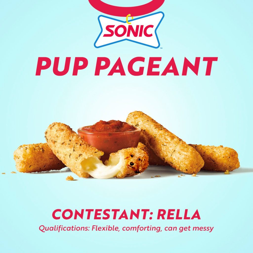 Rella Sonic Drive In Pup Pageant hot dog extravaganza Totso in Washington and Oregon Sonic Drive In Fast Food Restaurants