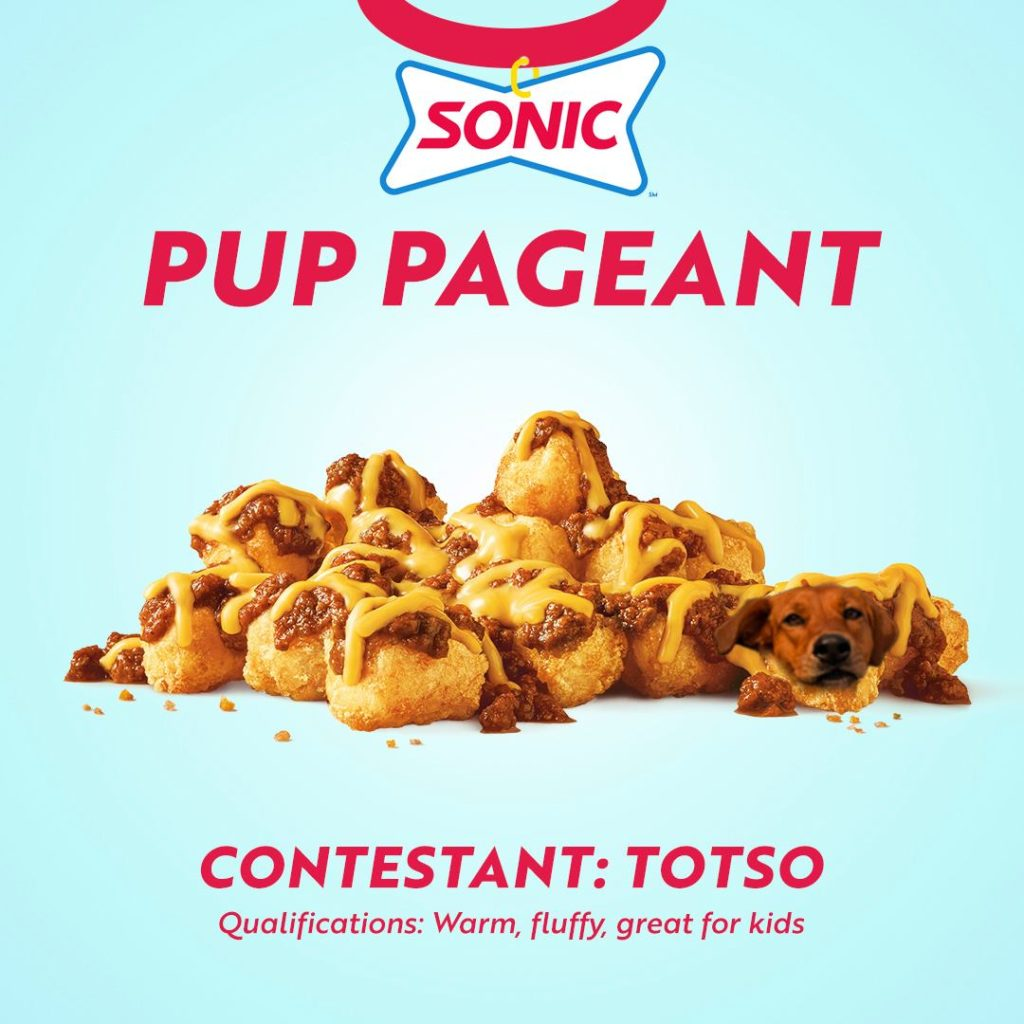 Totso - Sonic Drive In Pup Pageant hot dog extravaganza in Washington and Oregon Sonic Drive In Fast Food Restaurants