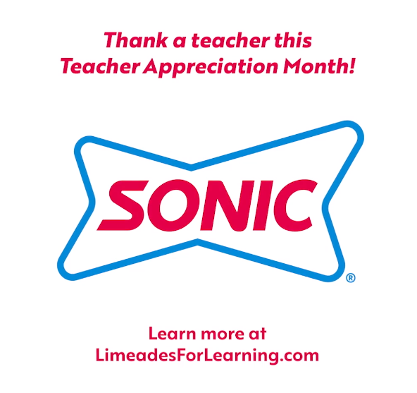 Sonic Drive-In Teacher Appreciation Month