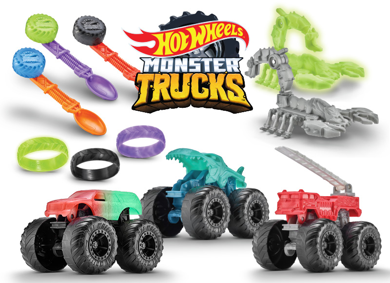 Sonic Kids Wacky Pack Hot Wheels Monster Truck Toys