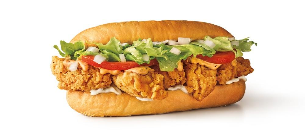 Sonic Popcorn Chicken Po'Boy Sandwich