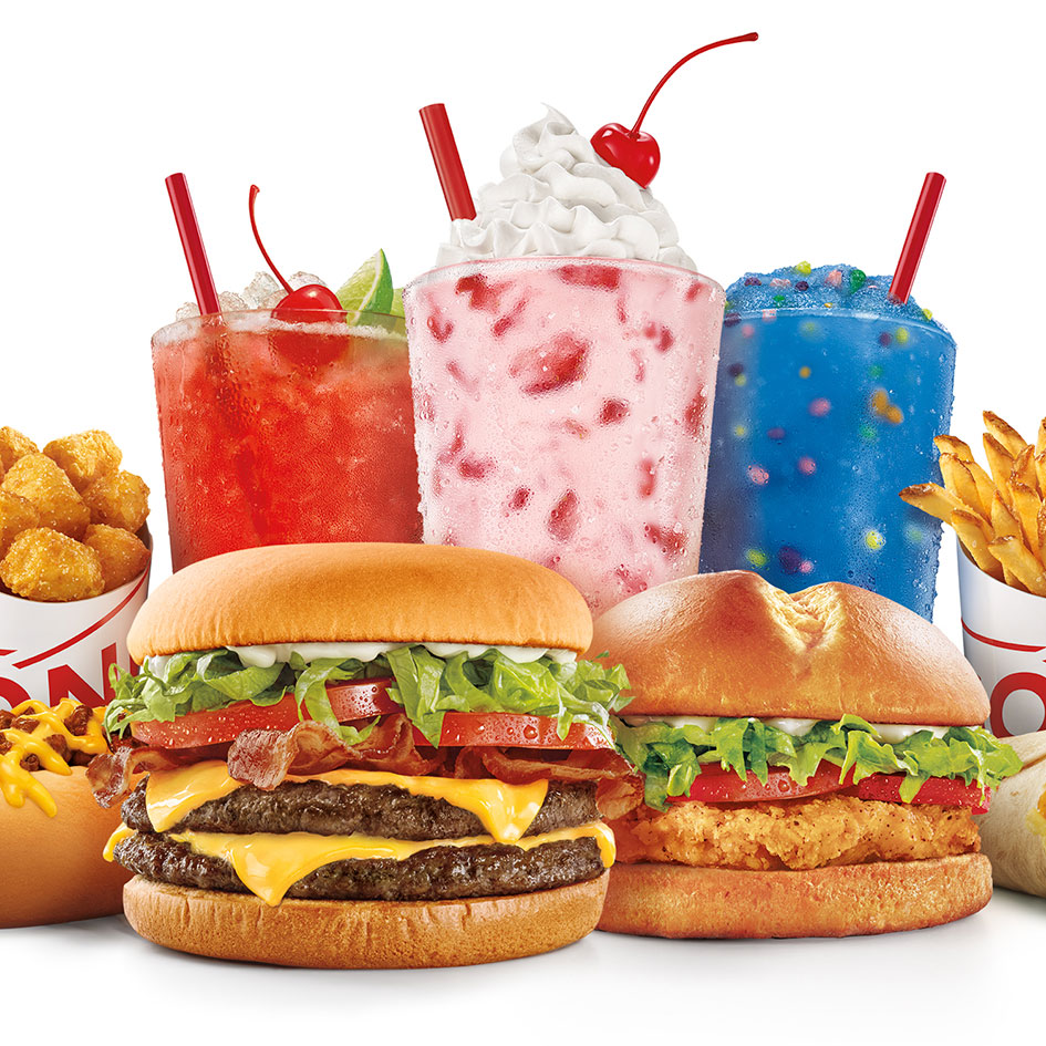 Sonic Drive-In Fast Food Restaurants food favorites and ice cream treats